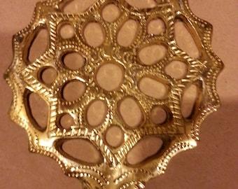 Vintage door knocker Moroccan craft made of brass hand made engraved decor