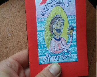 Mini Notebook with captain's notes illustration