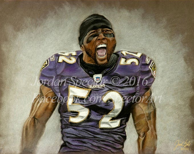 """Ray Lewis """"Gridiron Legend"""" limited edition art print - 20x24 inches"""