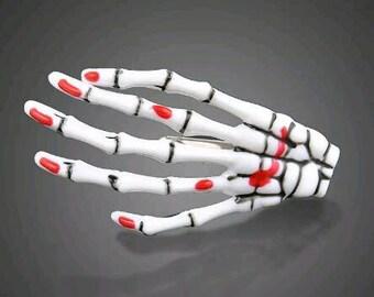 Skeleton Hand Hair Clips