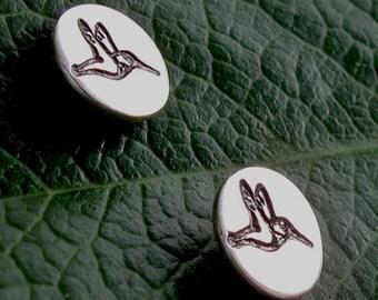 Hummingbird Studs - Sterling Silver