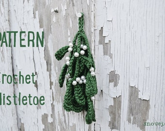 PATTERN Crochet Mistletoe Christmas Green