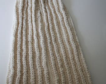 Scarf short fine alpaca and sequins of mother-of-Pearl, fair trade, gift idea