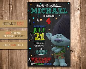 Trolls, Trolls Invitation, Trolls Birthday, Trolls Party, Trolls Birthday Invitation, Trolls Invite Printable, Trolls Birthday Party Invite