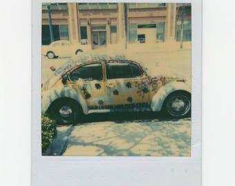 Vintage Polaroid SX-70 Snapshot Photo: Volkswagen VW Bug Beetle [81647]
