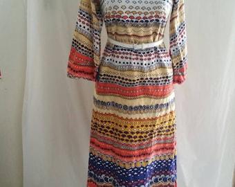 1970s Najla New York Hippie Dress