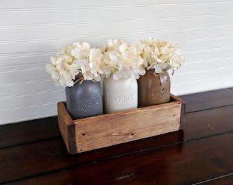 Wonderful Wedding Centerpiece, Mason Jar Centerpiece, Rustic Wedding Decor, Rustic Home  Decor, Mason
