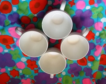 Vintage BRANCHELL Melmac Melamine White Cups Mugs - Sold Individually