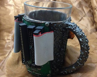 """Forged glass-holder (cup holders) """"SOMA"""" for tea and beer."""
