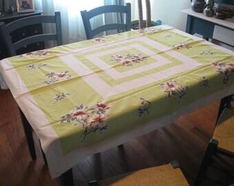 Vintage 1950's Cotton Table Cloth