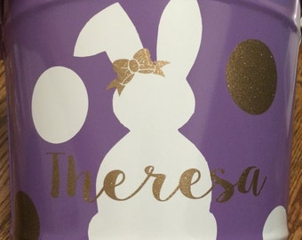 10 Qt Personalized Metal Easter Bucket