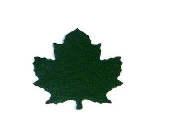 Green maple leaf, green maple leaves, green, felt leaves, maple tree, crafting, sewing, applique, embellishments, felt crafts, felt supplies