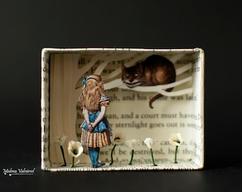 Matchbox Art - Diorama - We Are All Mad Here - Alice in Wonderland