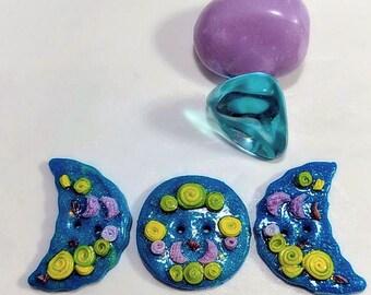 Whimsical Triple Goddess Button Set