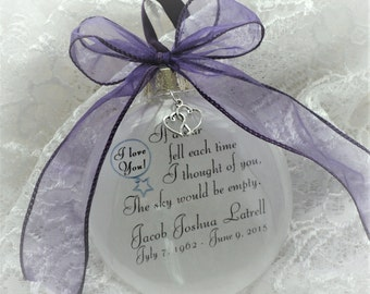 In Memory Ornament Free Personalization and Charm, If Stars Fell Each Time I Thought of You