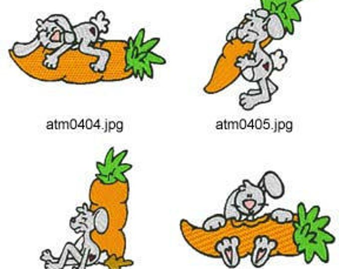 Wabbits ( 7 Machine Embroidery Designs from ATW ) XYZ17C