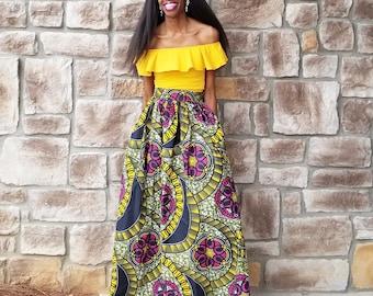 Jasmine Ankara Maxi Skirt (XS - 6XL)