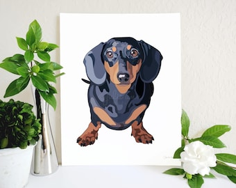 Dachshund Art Print, Doxie Art, Dachshund Decor, Doxie Wall Art, Dog Art, Dachshund, Wiener Dog, Dog Wall Art, Gift for Dog Lover, Dog Decor
