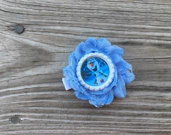 Olaf Hair Bow / Olaf Flower Clip