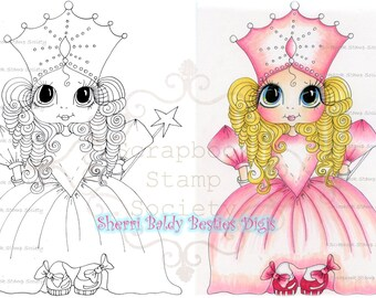INSTANT DOWNLOAD Digital Digi Stamps Big Eye Big Head Dolls Digi   Besties Besties Of Oz Princess Sparkle By Sherri Baldy