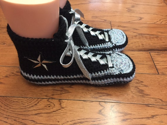 sneaker converse converse 303 shoe List crocheted silver slippers Womens top Crocheted slippers high tennis converse crochet 8 10 converse qwz7HICUx
