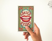 SMILE Mini Note Book | PLAIN or RULED Paper | 60 Pages | Matchbox inspired Pocket Diary | Indian Pop Art Stationery Sketchbook Cultural Gift