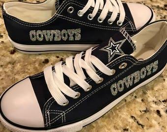 Dallas Cowboys Womans Custom Shoes w/o Bling