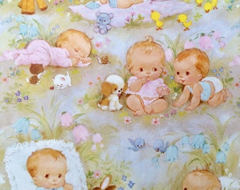 Baby Gift Wrap, Baby Shower, Wrapping Paper, Vintage Gift Wrap, New Baby Gift Wrap, Gift Wrap, Gift Wrapping, Baby Boy, Baby Girl