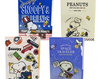 Snoopy Travel A4 File Folder Organizer 5 index with mini pocket