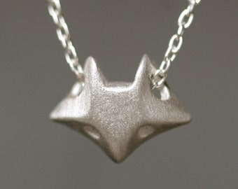 Fox Necklace in Sterling Silver