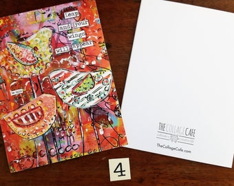 Happy Mail Mixed Media Abstract Art Note Cards No. 4