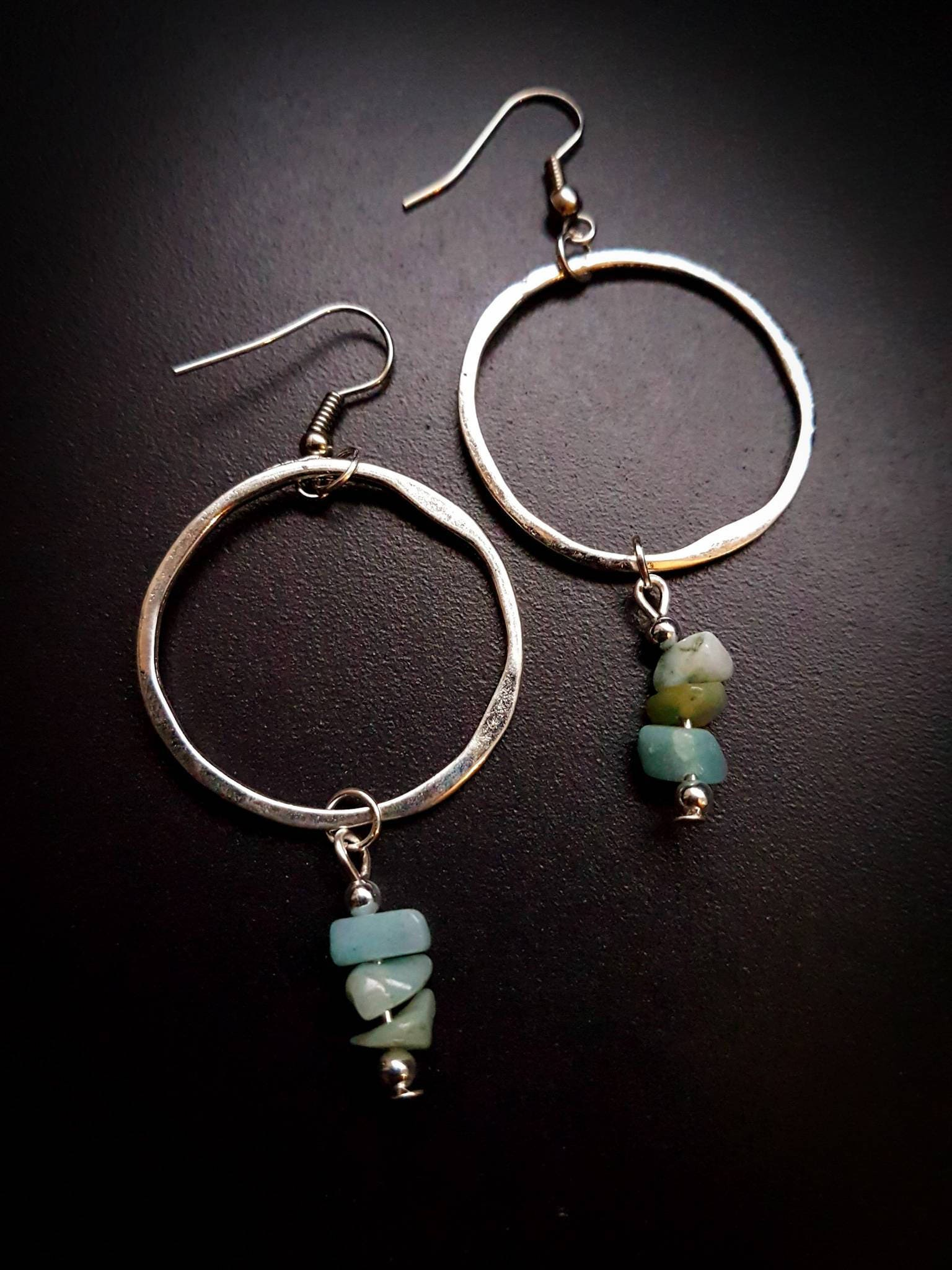 nice earrings plated hoop listing chip il pair beads of amazonite fullxfull silver uk