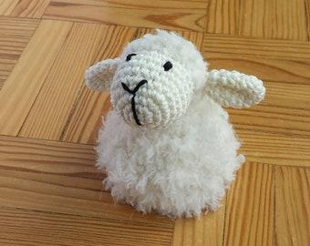 Woolly sheep egg cozy - crochet - sheep egg warmer
