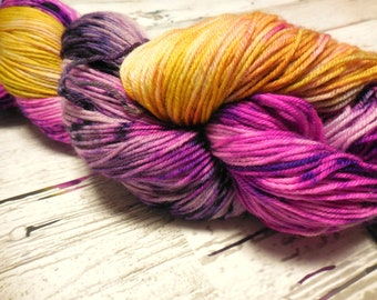 "I Want Your Socks ""Purple People Eater"" Superwash Merino Nylon  fingering weight by AnniePurl"