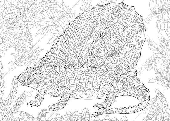Dino Coloring Pages Animal Book