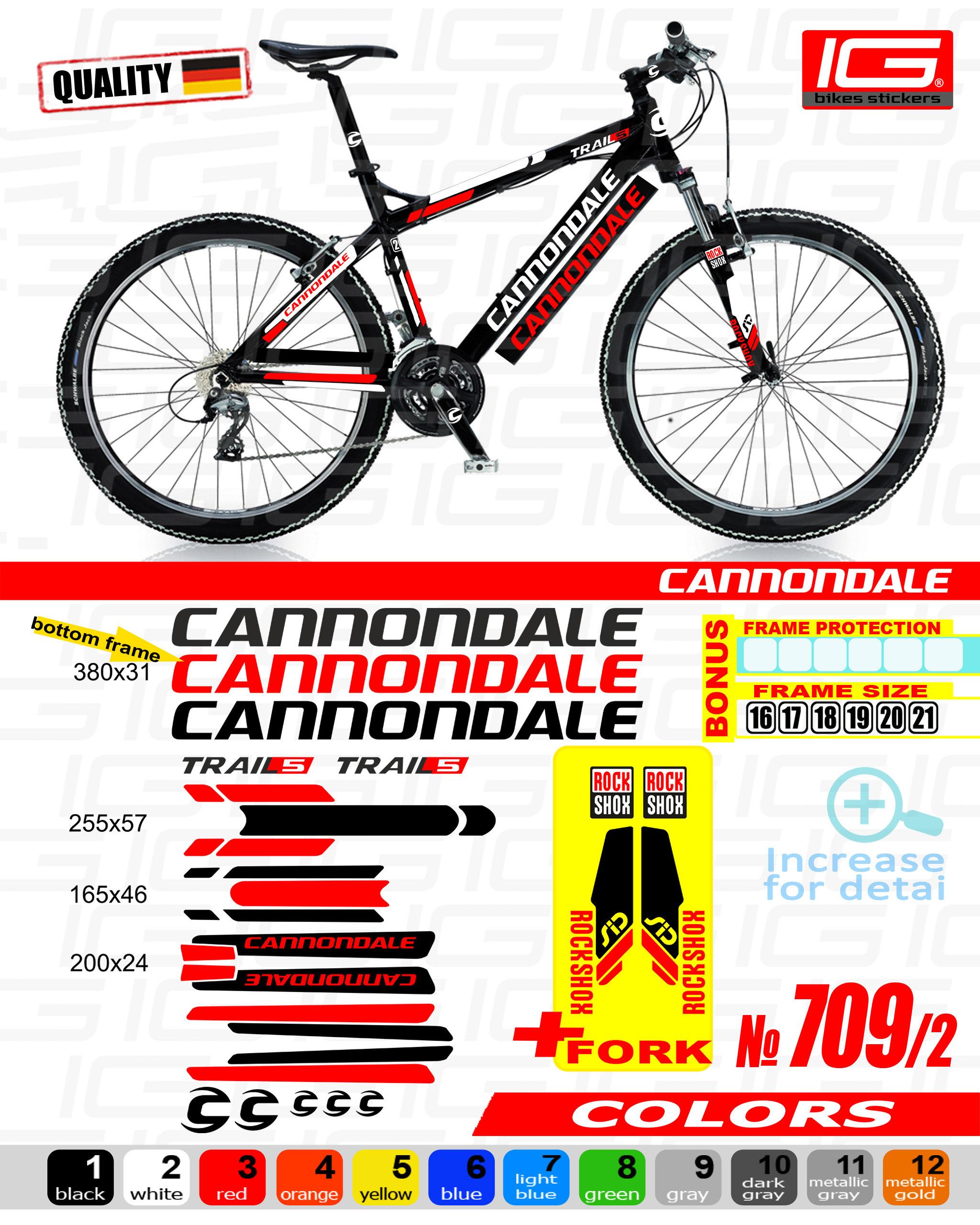 CANNONDALE Aufkleber Fahrrad Rahmen Autocollant Fahrrad