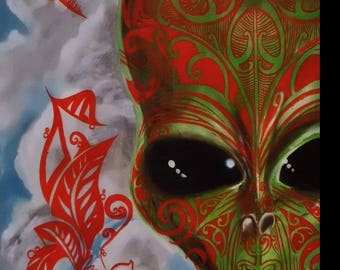 Alien Maori - Original painting - TravelArt