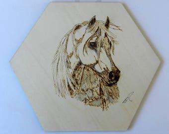Custom wood burning portrait - pyrography art - people portrait - pet portrait - horse portrait - wood wall art - woodburn unique gift