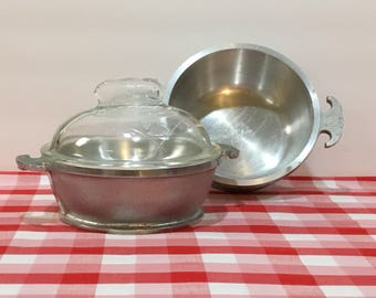 Guardian Service Hammered Aluminum Cookware with Glass Lid ~ Single Dutch Oven or Pot without Lid ~ Dutch Oven ~ Produced 1930-1956