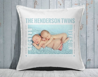 Custom Decorative Pillow | Throw Pillow | Custom Pillow | 20 x 20 Pillow Cover | Custom Pillow Cover | Personalized Pillow | single photo