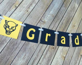 Custom Mascot Grad Banner - Congrats Grad banner - Graduation
