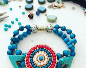 Nests Bracelet turquoise