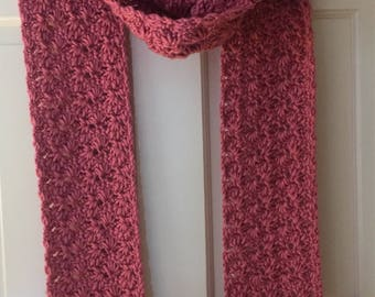 Pink Tasseled Super Scarf