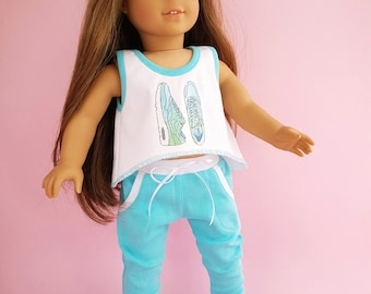 18 inch Doll Clothes - Fits American Girl Doll. 3 pcs. Sport suit.