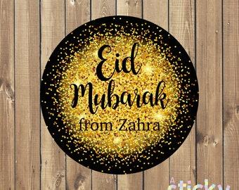 Personalized Eid Stickers, Eid Labels, Eid Gift, Eid Gift Labels, Custom Stickers, Ramadan Gift, Ramadan Mubarak Stickers, Ramadan Kareem