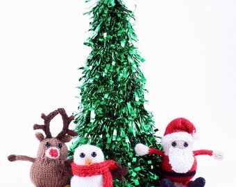 Wickedly Cute Holiday Trio Christmas Ornaments Knitting Pattern PDF by Wicked Chickens Yarn Great For Christmas and Holiday Decorating
