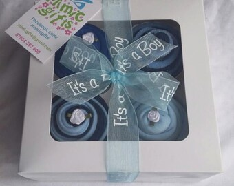 Baby Clothes Cupcakes - blue, pink, neutral. UK seller