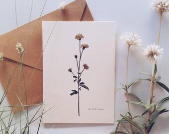 Wildflower Botanical Greeting Card