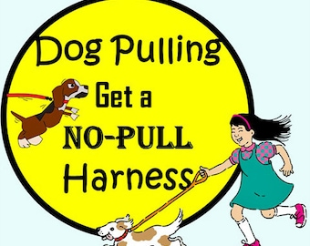 Dog Harness - No Pull Dog Harness (Non Canvas) - Choose Any Cotton Fabric in Shop - Free Colored Buckles