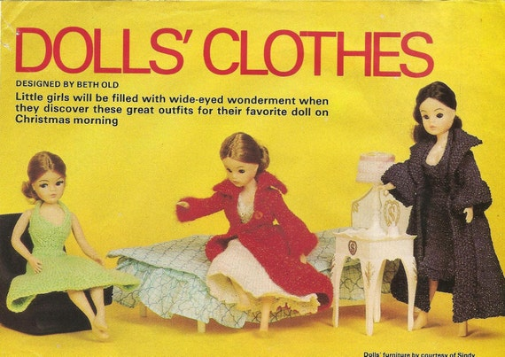 Vintage Sindy Knitting Patterns From New Idea 1976